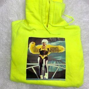 Lil Kim custom sweatshirt hoodie green size medium